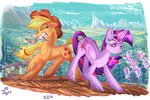 applejack jowybean magic princess_twilight sweet_apple_acres twilight_sparkle weeds