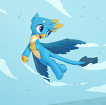 absurdres flying gallus highres swerve-curve