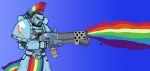 armor crossover flamethrower ghettomole gun humanized rainbow_dash rainbowthrower space_marine warhammer_40k weapon