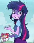 apple_bloom baekgup cutie_mark_crusaders equestria_girls humanized insanity scootaloo sweetie_belle twilight_sparkle