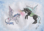 highres princess_twilight queen_chrysalis sagastuff94 traditional_art twilight_sparkle