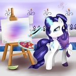 easel highres magic ogniva paintbrush painting rarity