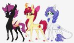 apple_bloom australian-senior changeling cutie_mark_crusaders highres redesign scootaloo sweetie_belle