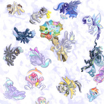cloudchaser daring-do derpy_hooves discord doll flight_spell flitter fluttershy g1 orion pinkie_pie princess_cadance princess_celestia princess_luna queen_chrysalis rainbow_dash rarity saturnspace scootaloo surprise thunderlane time_turner wild_fire wings