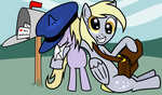 derpy_hooves dinky_hooves hat mail mailbox rhanoa
