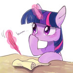 highres magic nora1211 quill scroll twilight_sparkle