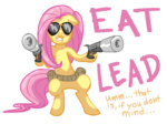 anarchainbedlam fluttershy glasses gun pistol silencer sunglasses weapon