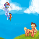 applejack inner-d rainbow_dash