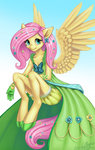 anthro dress fluttershy gala_dress highres laurenmagpie