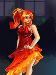absurdres checkerboardazn dress equestria_girls highres humanized sunset_shimmer