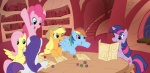 applejack dungeons_and_dragons elosande fluttershy main_six pinkie_pie rainbow_dash rarity twilight_sparkle