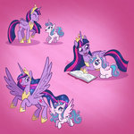 book highres millieduboisart princess_flurry_heart princess_twilight twilight_sparkle