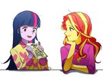 equestria_girls humanized magneticskye sunset_shimmer twilight_sparkle