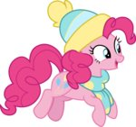 absurdres cloudyglow hat highres pinkie_pie scarf vector