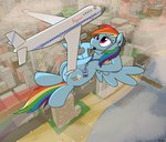 airplane badge big city flying microphone rainbow_dash rapidstrike wat