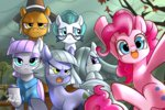 cloudy_quartz highres igneous_rock limestone_pie marble_pie maud_pie parents pinkie_pie renokim