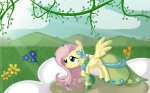 cocolli dress flowers fluttershy gala_dress wallpaper