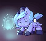 animated armor ende26 filly knight magic princess_luna scrunchy_face shield woona young