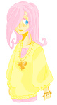 anjallou fluttershy humanized mspaint necklace