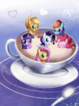 applejack bukoya-star coffee fluttershy highres main_six pinkie_pie rainbow_dash rarity twilight_sparkle