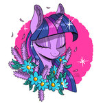 absurdres colorsoundz flowers highres twilight_sparkle
