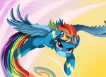 flying goggles highres pridark rainbow_dash wonderbolts