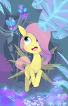 absurdres butterfly everfree_forest filly flowers fluttershy highres kryptchild