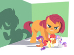 apple_bloom babs_seed big karzahnii scootaloo shadow sweetie_belle
