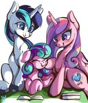 highres princess_cadance princess_flurry_heart shining_armor tohupo