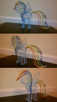 eightup747 lineart photo rainbow_dash sculpture wire