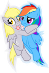 derpy_hooves hugs rainbow_dash turbulosus
