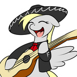 bipedal derpy_hooves guitar i_shall_not_use_my_hooves_as_hands kloudmutt mariachi