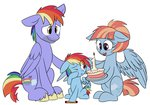 absurdres bow_hothoof cake doodle-mark filly highres rainbow_dash windy_whistles