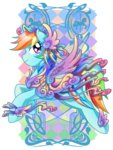 amelie-ami-chan highres rainbow_dash saddle transparent watermark