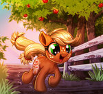 applejack apples filly harwick running trees