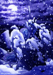 highres inuhoshi-to-darkpen moon princess_luna snow winter
