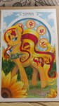 flowers helicityponi highres sunset_shimmer traditional_art