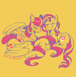 fluttershy highres overlordneon polyamory princess_twilight shimmershy shipping sunlight sunset_shimmer twilight_sparkle twishy