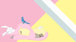 angel bird ferret fluttershy mouse sleeping softfang wallpaper