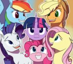 applejack fluttershy gabby-skies highres main_six pinkie_pie rainbow_dash rarity twilight_sparkle