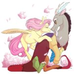 celeriven discord fluttershy highres shipping