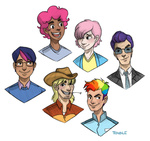 applejack fluttershy gender_swap humanized main_six pinkie_pie piratecore rainbow_dash rarity twilight_sparkle