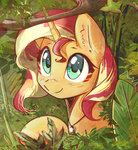 forest mirroredsea sunset_shimmer