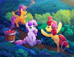 apple_bloom apples cutie_mark_crusaders highres scootaloo sweetie_belle viwrastupr
