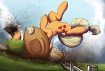 applejack big dirt fence highres ncmares suplex tree