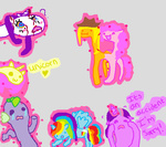 :gonk: :i applejack blood fluttershy injured magic magic_overload main_six moonlightglitter mspaint pinkie_pie rainbow_dash rarity spike twilight_sparkle