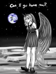aphexangel emotional_blackmail grayscale highres humanized moon princess_luna text