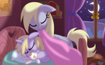 derpy_hooves dinky_hooves equestria-prevails highres moon muffin plushie sleeping toy