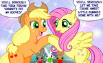 applejack apples bunny comic fluttershy marcusmaximus