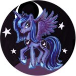 highres nekototora princess_luna traditional_art